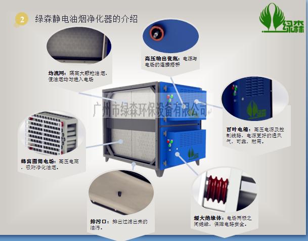 绿讴牌静电油烟净化器介绍